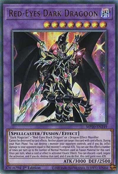 MP20-EN249「超魔導竜騎士-ドラグーン・オブ・レッドアイズ-Red-Eyes-Dark-Dragoon」